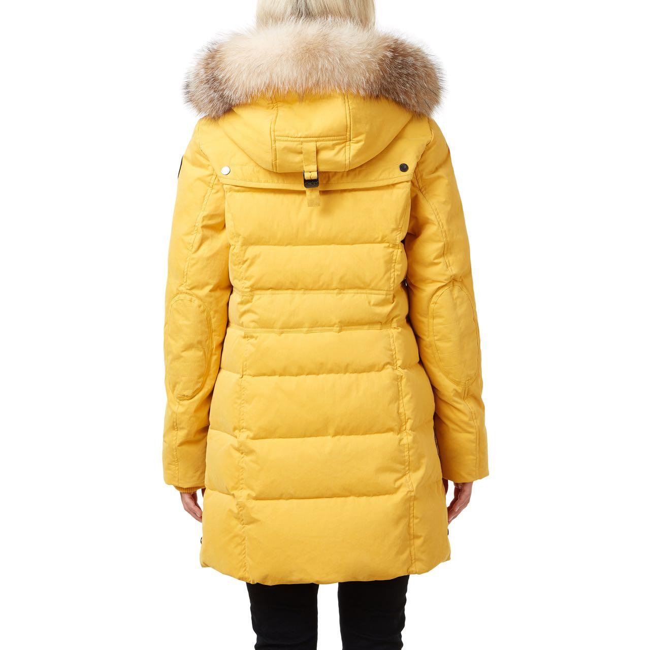 Pajar Winter Down Coat Parka AVA Mustard Yellow Fur Hood ...