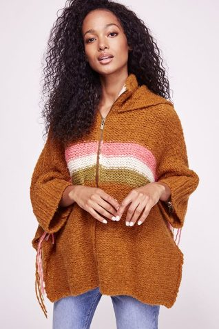 Free People Desert Sunrise Poncho