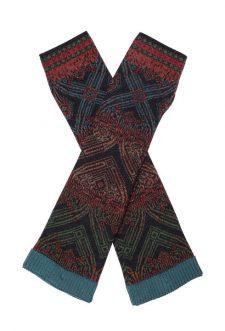IVKO Wool wristwarmers geometric 82636