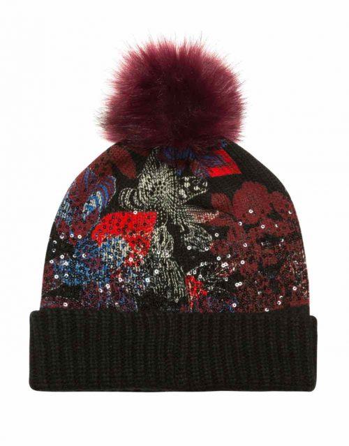 Desigual Winter Hat Sequinflowers