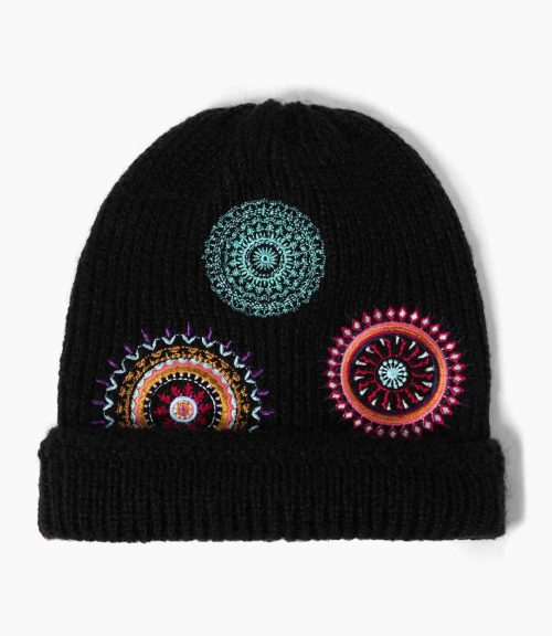 Desigual Winter Hat with Embroidery