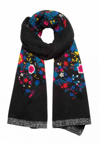 Desigual Winter Scarf Floral Design