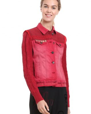 Desigual Red Denim Jacket