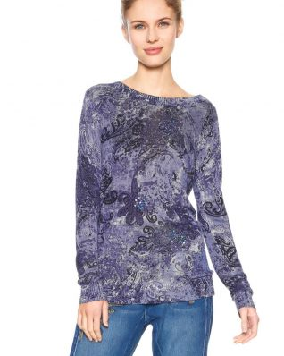 Desigual Purple Blue Sweater