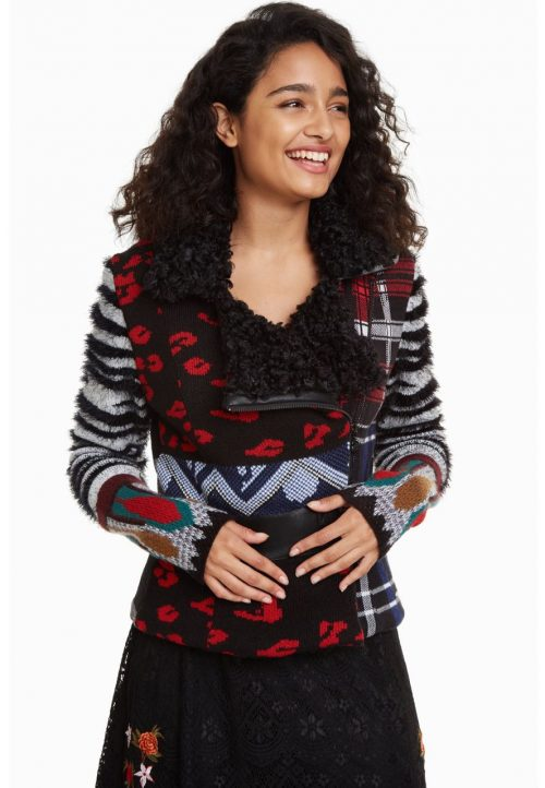 Desigual Sweater Jacket Mariana Patchwork