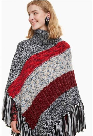 Desigual Poncho Patch
