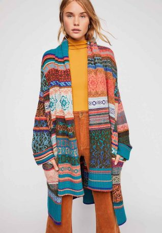 Free People Patchwork Cardigan