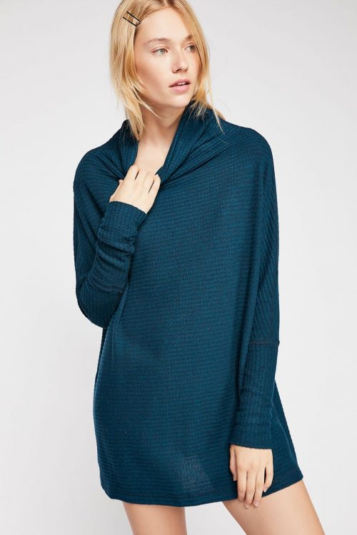 Free People Kitty Thermal Blue