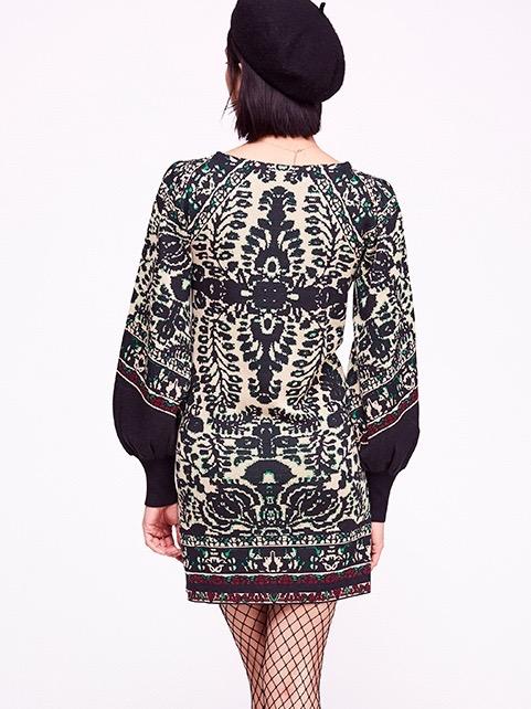 Free People Music And Lyrics Sweater Mini Dress Black
