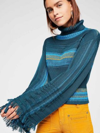 Free people Close to Me Pullover Blue