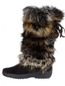 Pajar Fox Fur Leather Winer Boots Italy