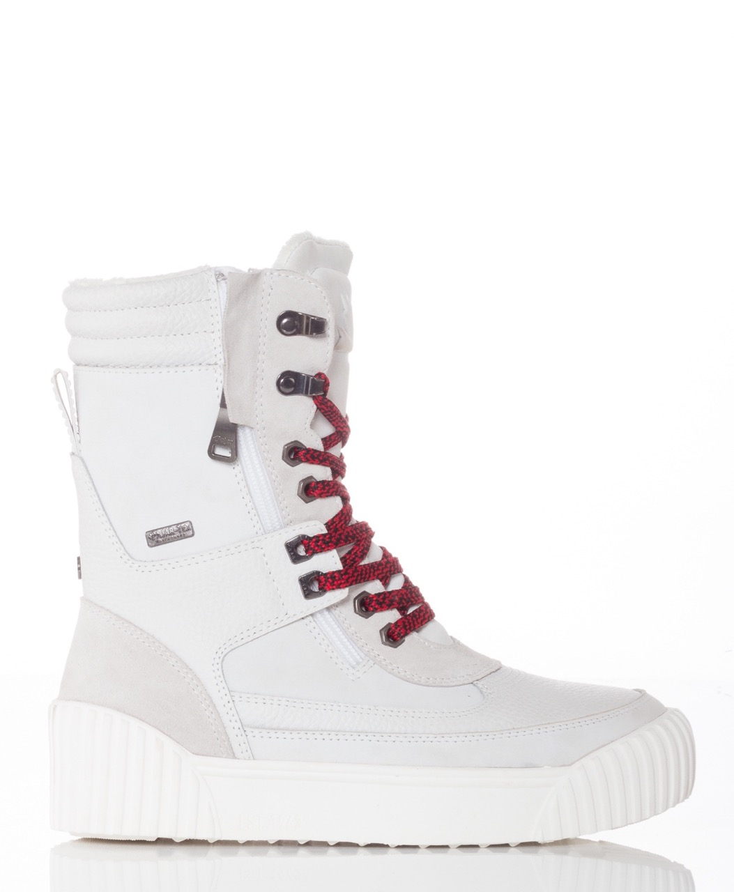 Pajar Winter Boots ROYA White Leather Suede Waterproof