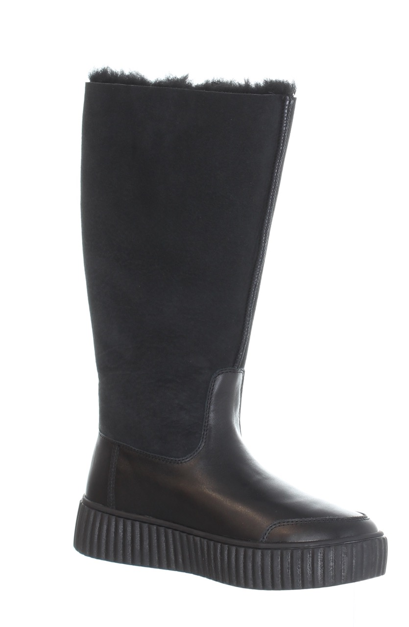 Pajar Winter Boots Cathay Black Leather Sheepskin Sport