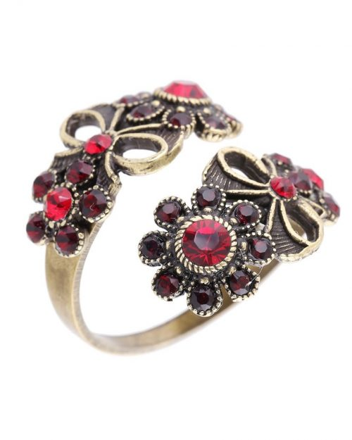 Michal negrin spiral floral ring