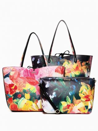Desigual 3-in-1 Reversible Tote Bag Bosco Capri