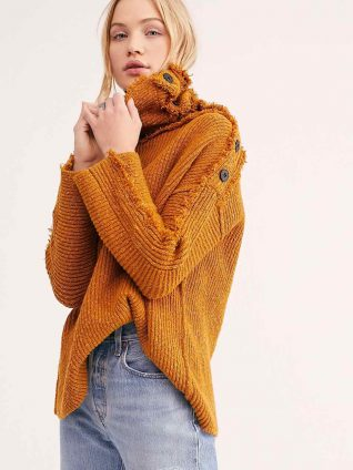 Free People On My Side Pullover Gold