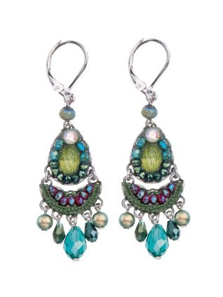 Ayala Bar Classi Earrings Green