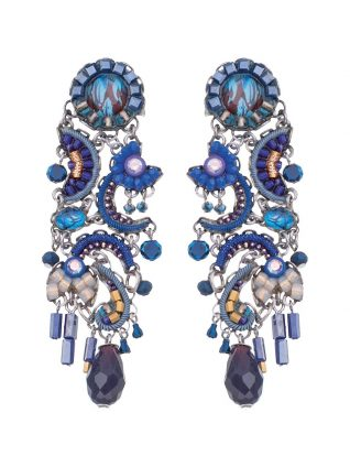 Ayala Bar Classic Left Right Earring Blue 2019