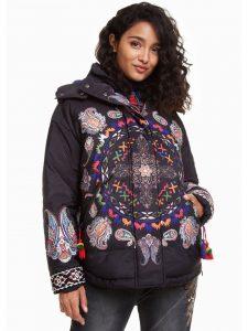 Desigual Winter Jacket Poncho style