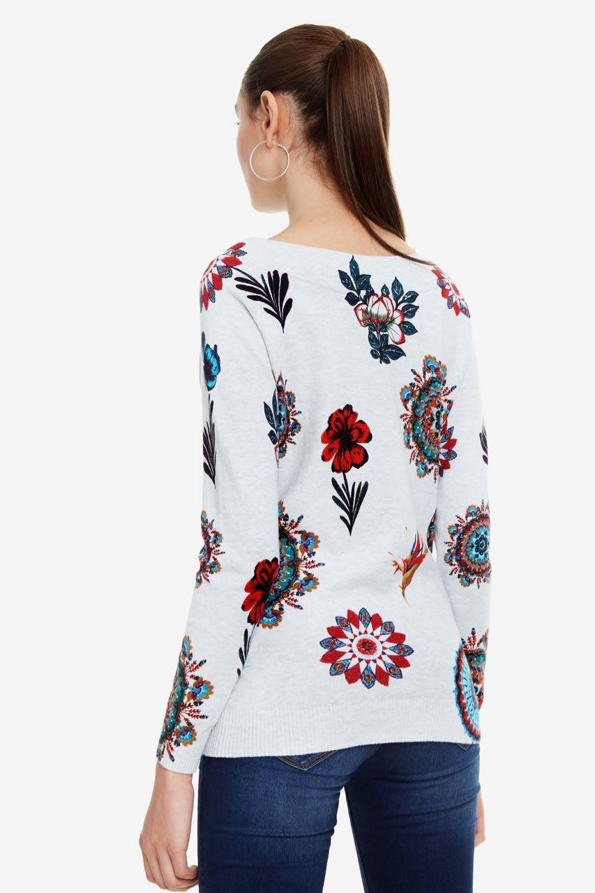 Desigual Pullover Floral Jumper Bantry 19swjf46 Spring