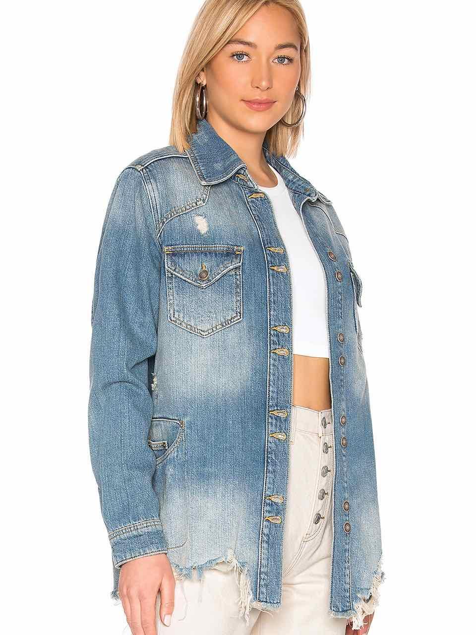 Free People Moonchild Shirt Denim Jacket Ob944122 Canada