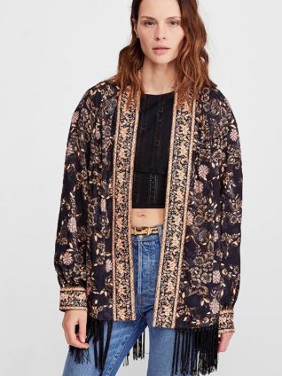 Free People Kaelin Embellished Jacket