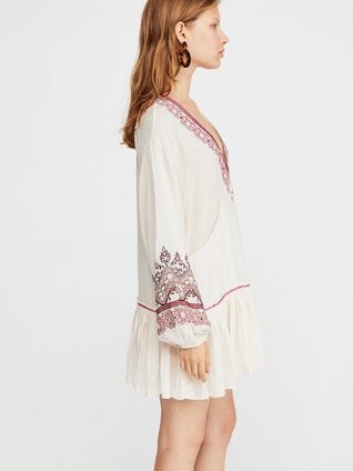 """6e8a98694a28c Free People Short Embroidered Dress Quick View. Free People """"Wild One ..."""