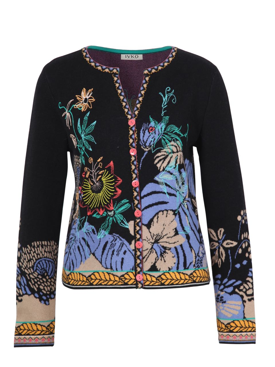 9face88ca IVKO Jacquard Cardigan with Embroidery 191724 Black Summer 2019