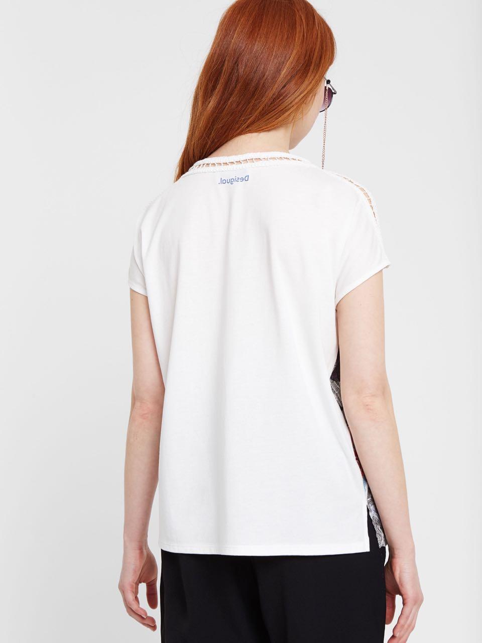 Desigual Damen T-Shirt Jersey Sweat Ginko